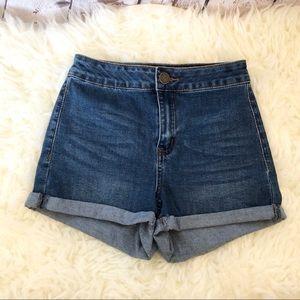 NWOT Copper Key high waist denim jean shorts